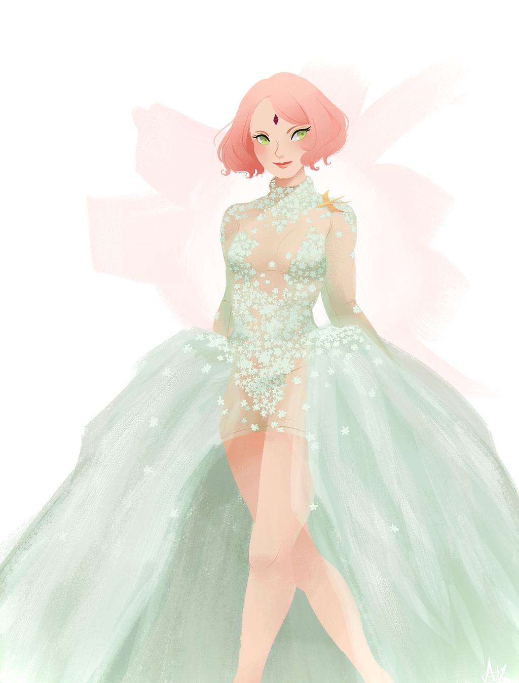 Sakura spring couture by oa chi on deviantart for Full body wedding dress