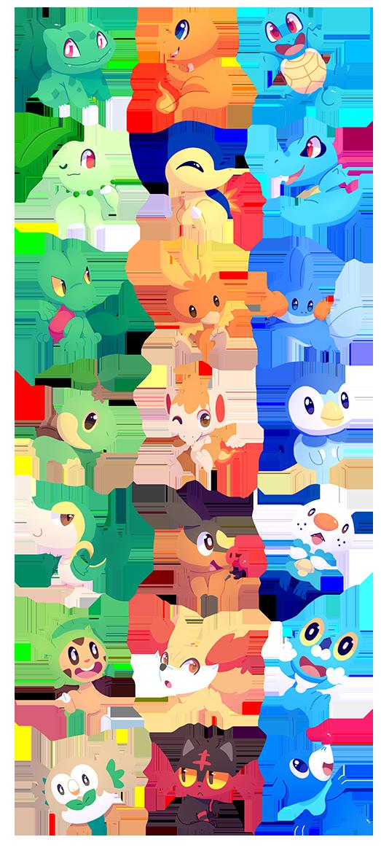 Pokemon starters by chocochaofun on deviantart - Pokemon perle evolution ...