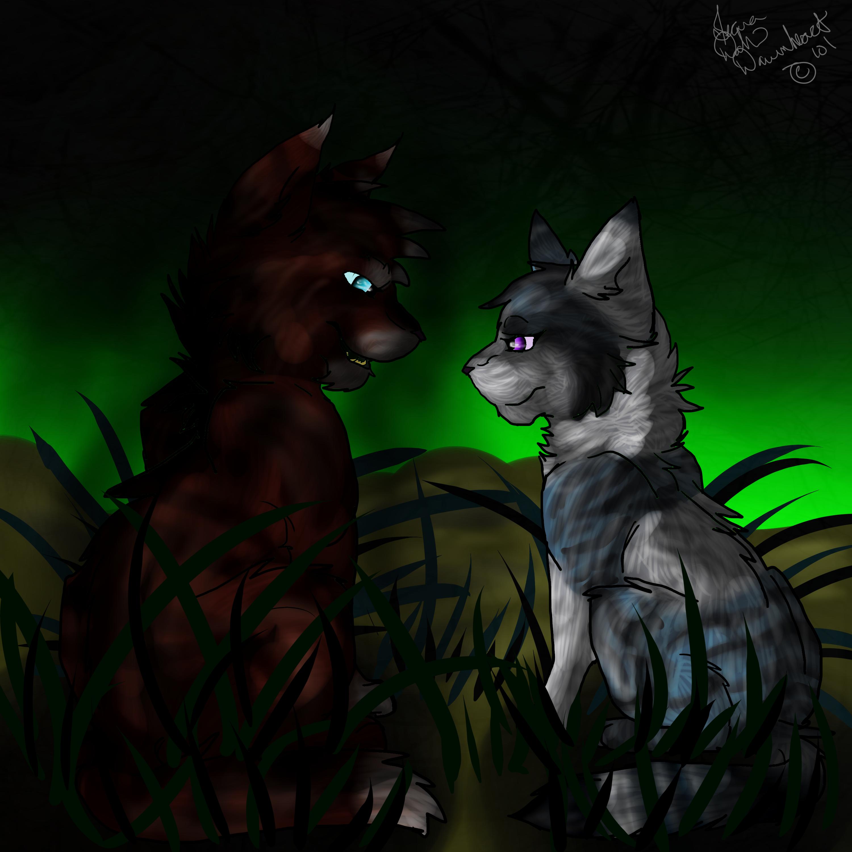 Warrior Cats Hawkfrost And Ivypool