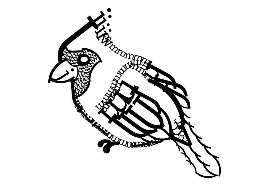 Typography Cardinal by EleanorTopsie