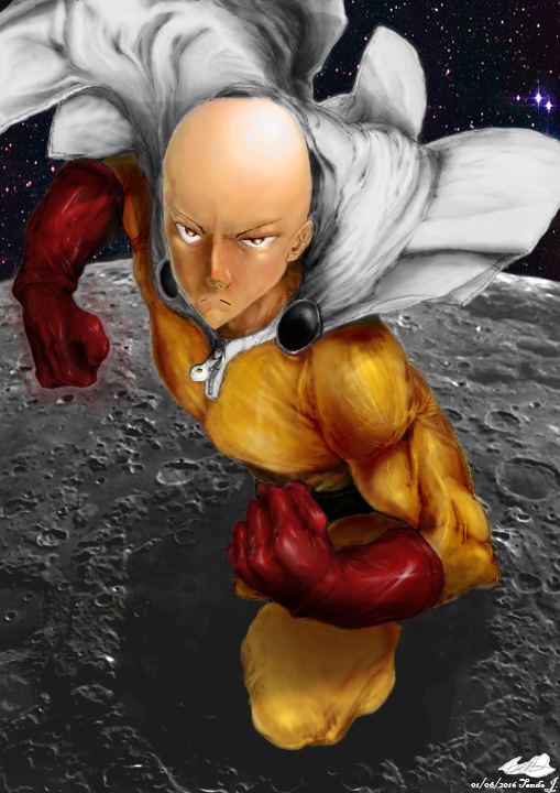 [Mouse drawing]Saitma on the moon (Completed) by jcaitendo