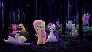 Evening in The Forest - Wallpaper [MLP]