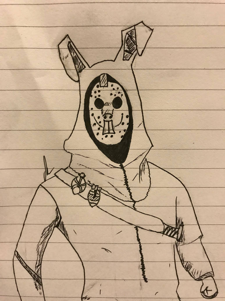 fortnite easter bunny skin by canknotdraw - easter bunny on fortnite