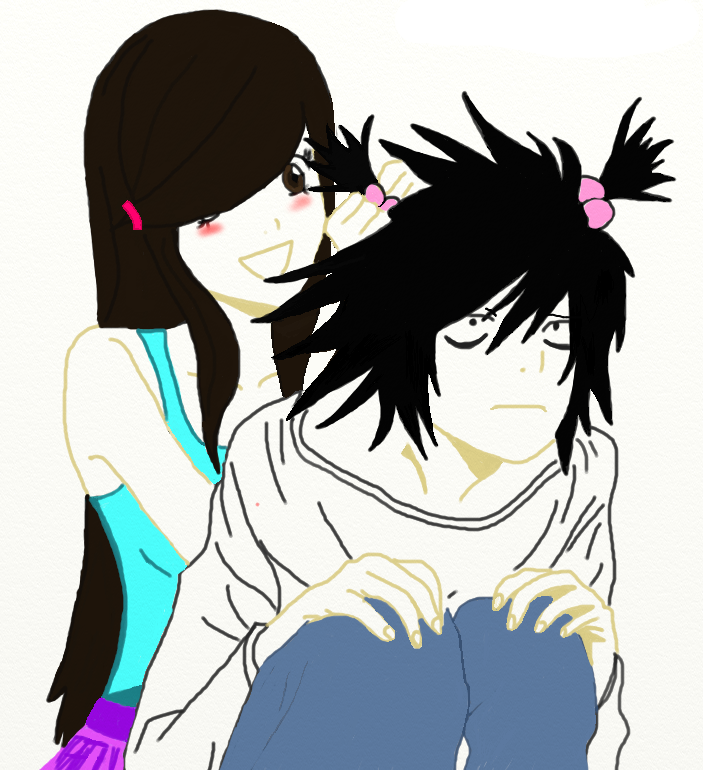 L and my Death Note-OC Tsuki by Marshmello-sama on DeviantArt