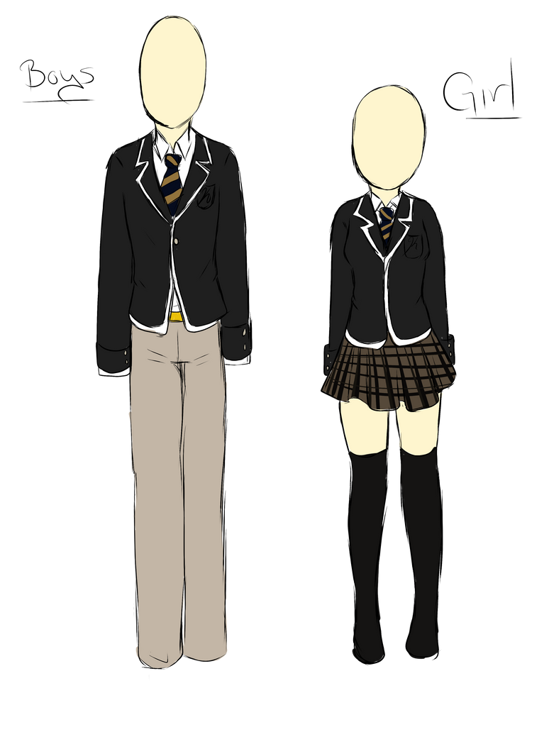 Kuraco High School uniforms by PaandaLuv