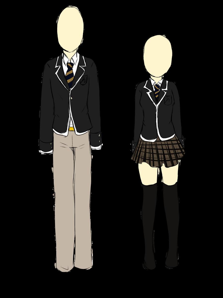 Kuraco High School uniforms by PaandaLuv