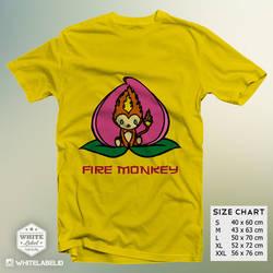 Fire Monkey Yellow Tshirt Design by eqbal4