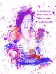 Purple Paint Splatter Portraits by eqbal4