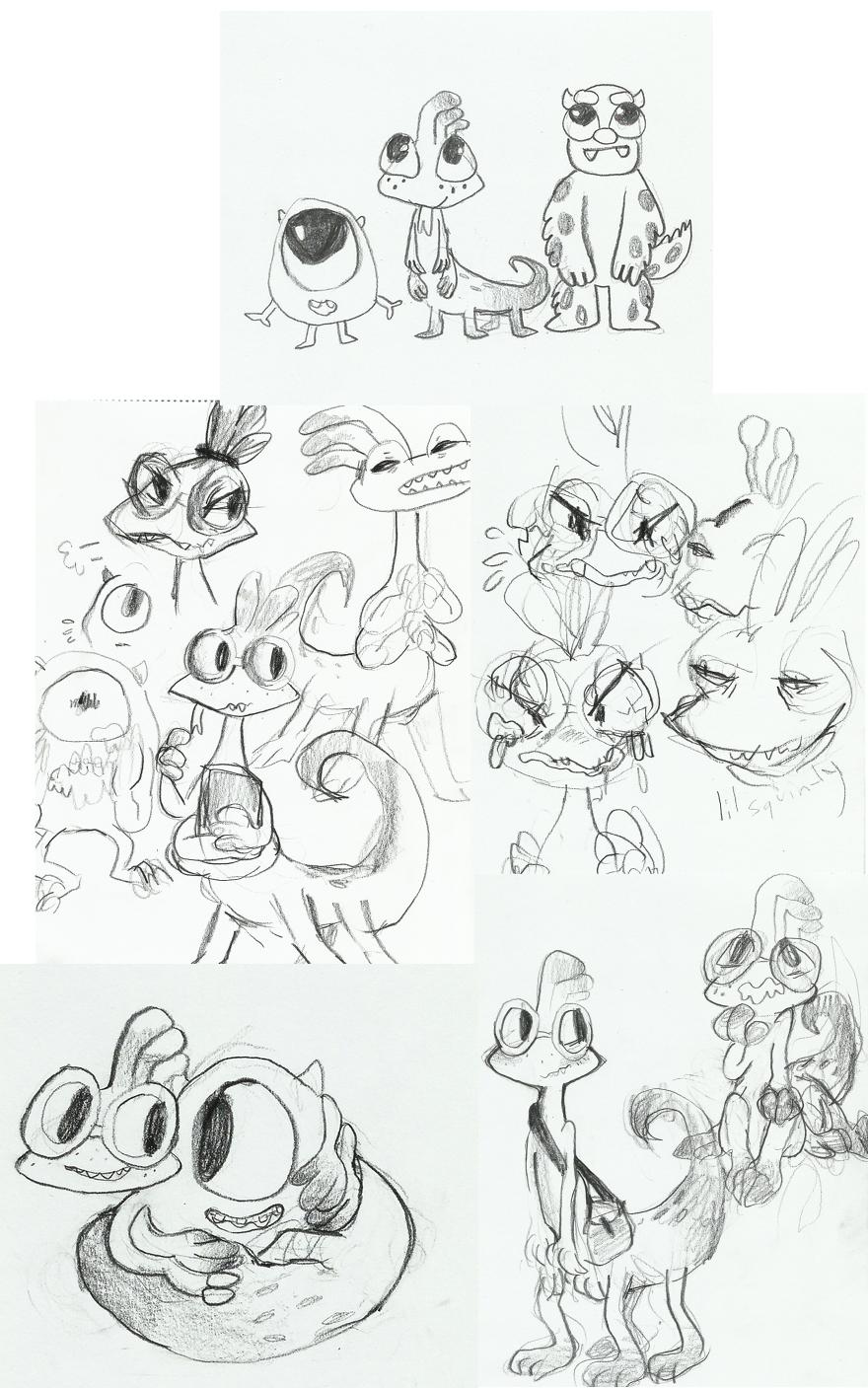 Easy Monster Drawings In Pencil   www.pixshark.com ... Easy Monster Drawings In Pencil
