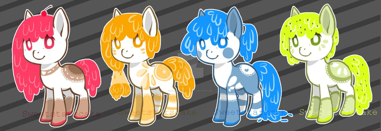 [ Ice cream pony ] OPEN by SweetStarsCake