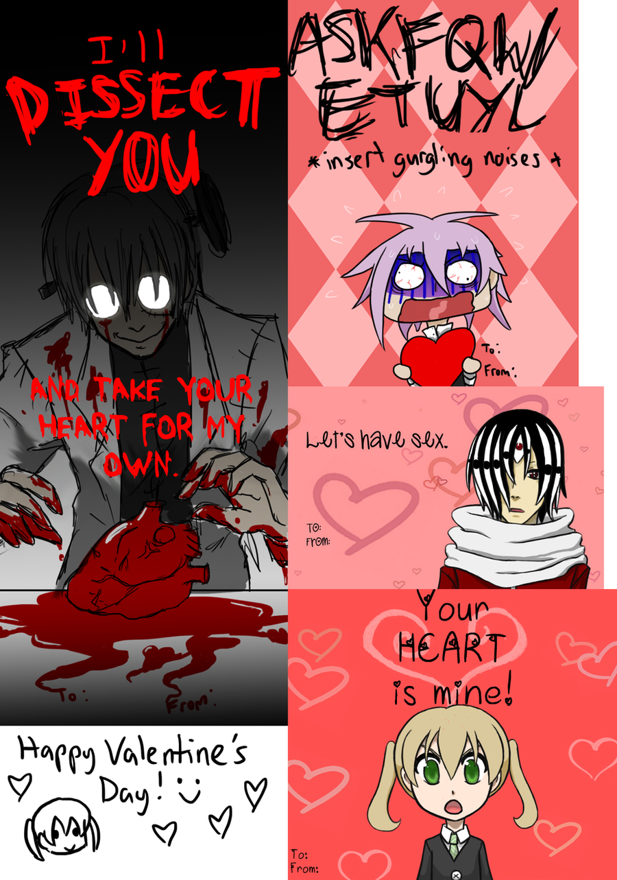 ... Soul Eater Valentineu0027s Day Cards By Z Raid