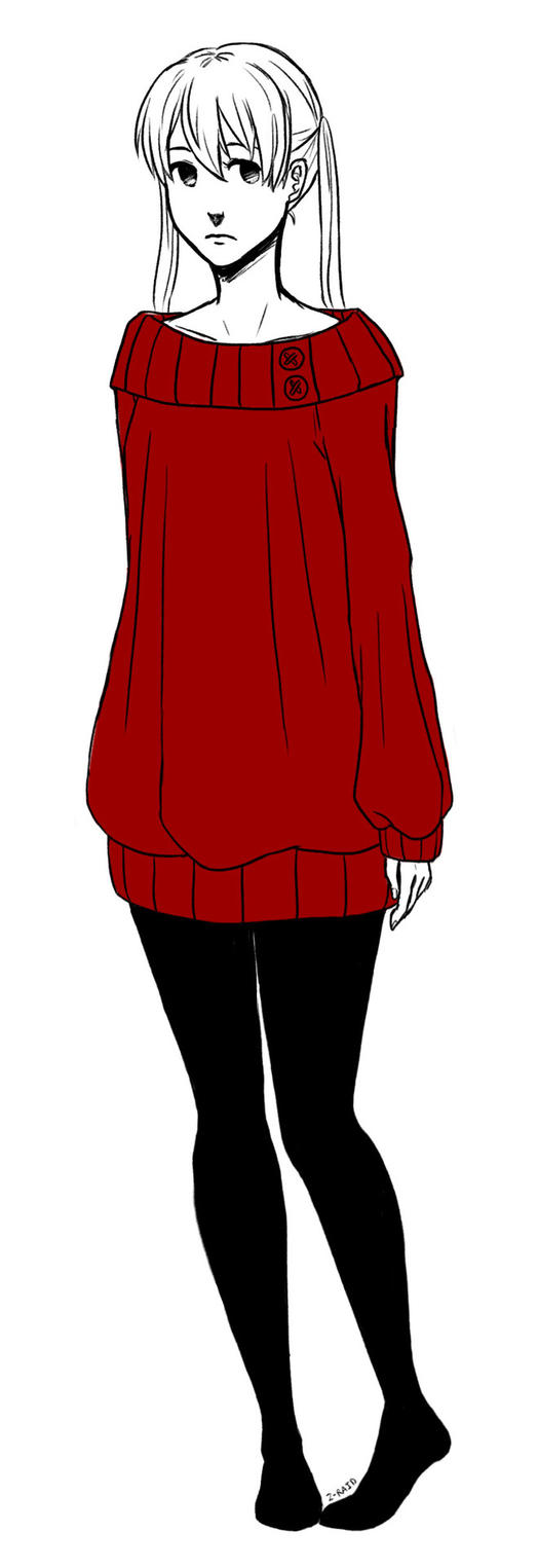 Maka in a Sweater by Z-Raid