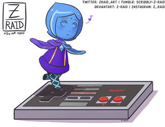 Commission: Pocket Fi Plays with NES by Z-Raid