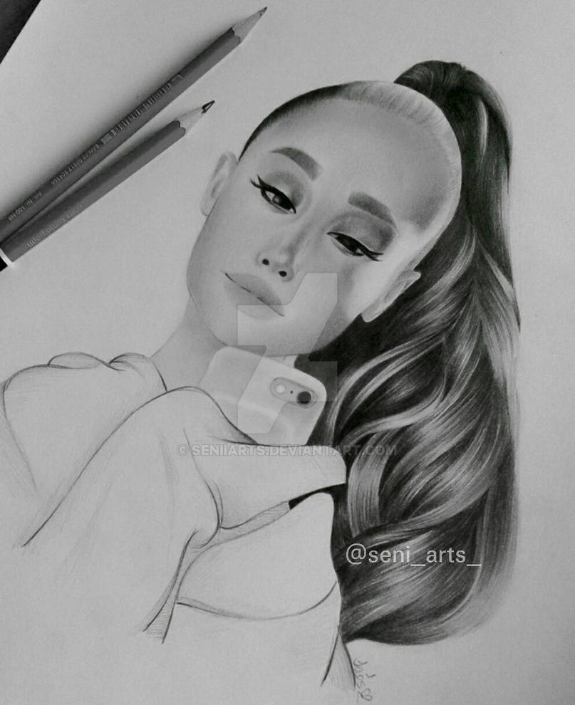 Ariana grande drawing by seniiarts