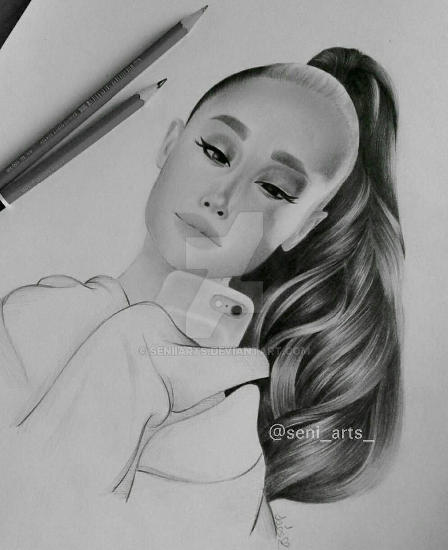 Ariana grande drawing by seniiarts on deviantart
