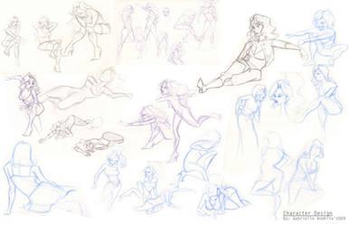 Character Design sketches 1 by gabrielleandhita