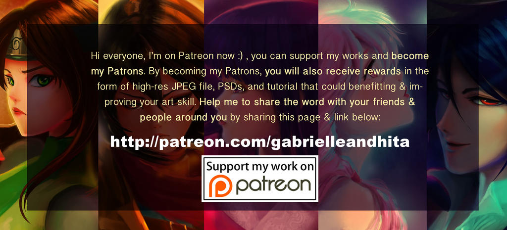 My Official Patreon by gabrielleandhita