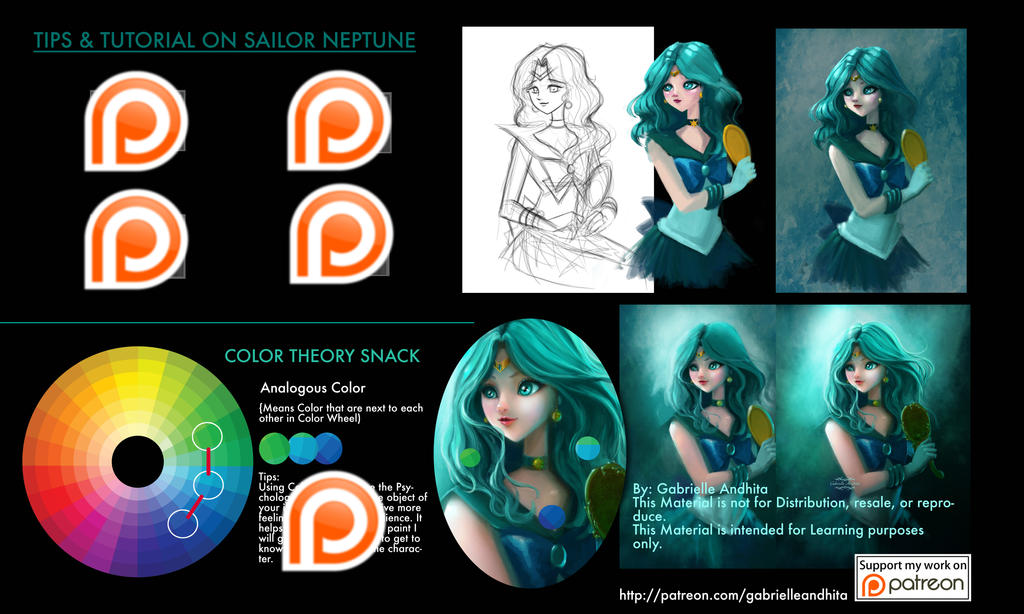 Sailor Neptune Tips  Tutorial Patreon Sneak Peek by gabrielleandhita