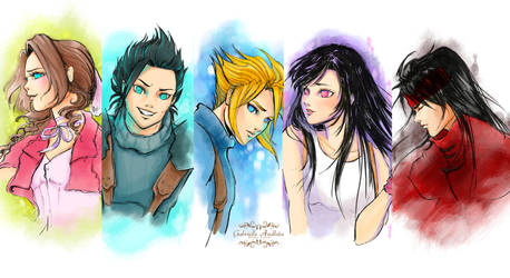 Final Fantasy 7 Series by gabrielleandhita