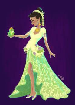 Princess Tiana X Indonesian Traditional Clothing