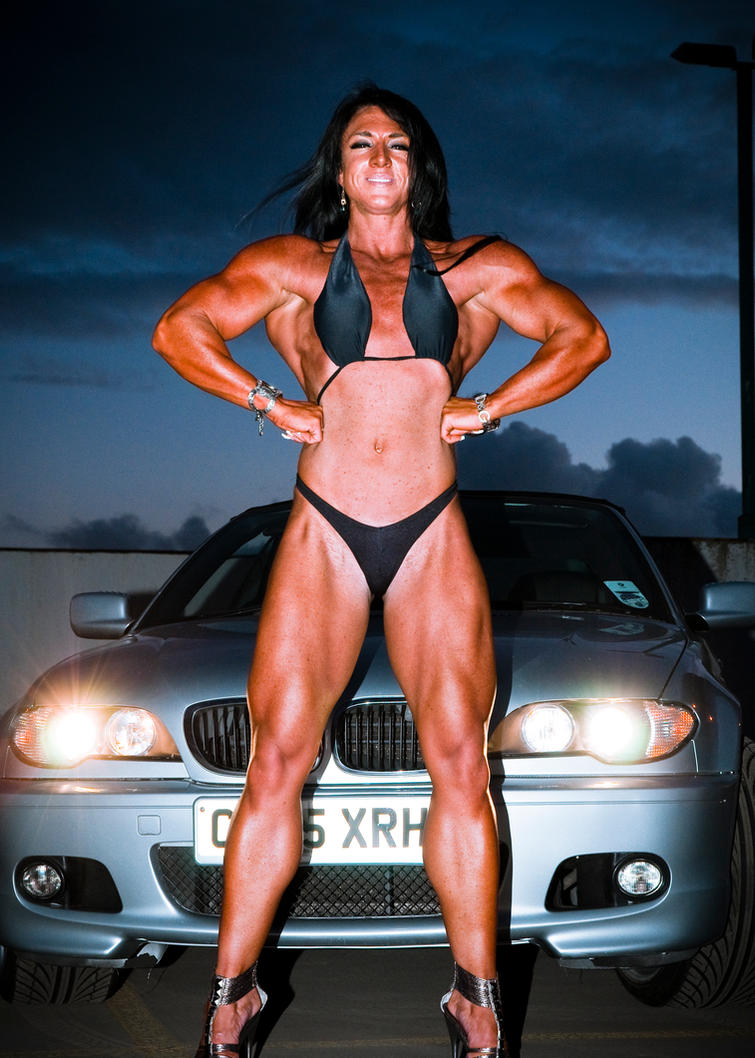nude female body builder