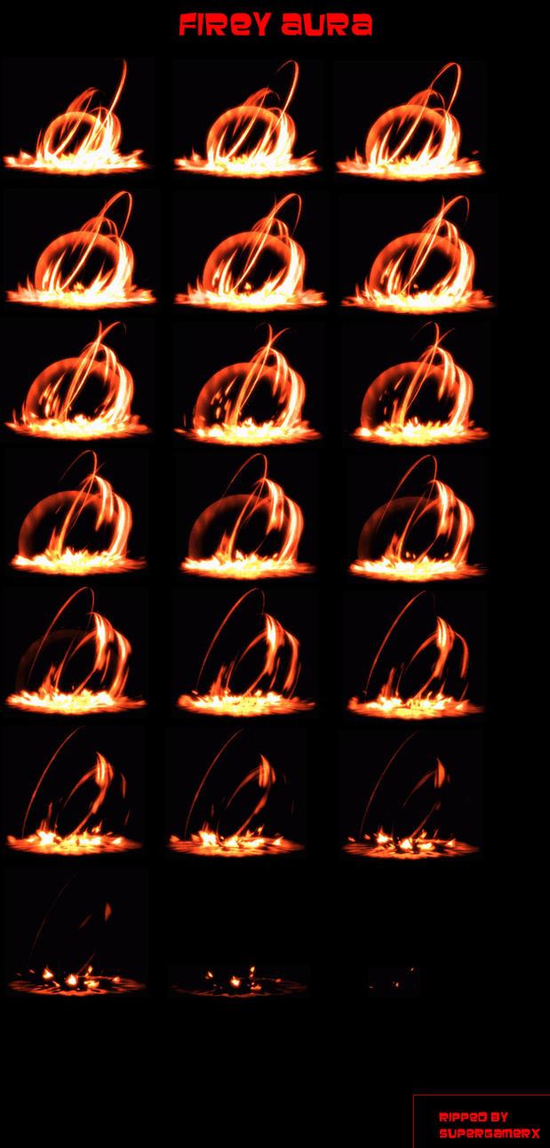Firey Aura Sprite Sheet by supergamerX