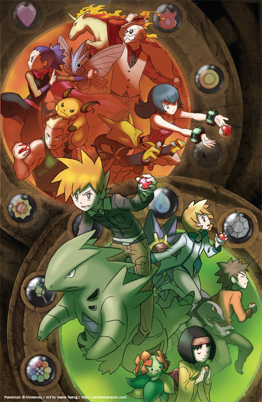 Kanto League Gym Leaders by slimu on DeviantArt