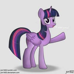Twilight Sparkle waving