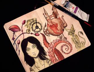 My sketchbook #17 Alice: Madness Returns by rusinovamila