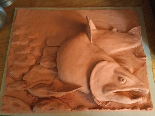 Salmon sculpture by EmmaHolmes96