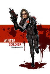 Captain america : The Winter Soldier by 35THESTRANGE