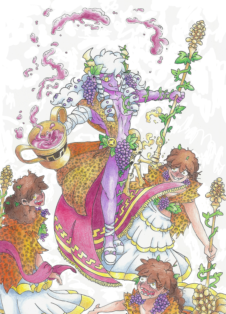 Dionysus And Maenads By Atmaflare On Deviantart