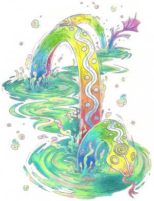 Yurlungur, the Rainbow Serpent by AtmaFlare
