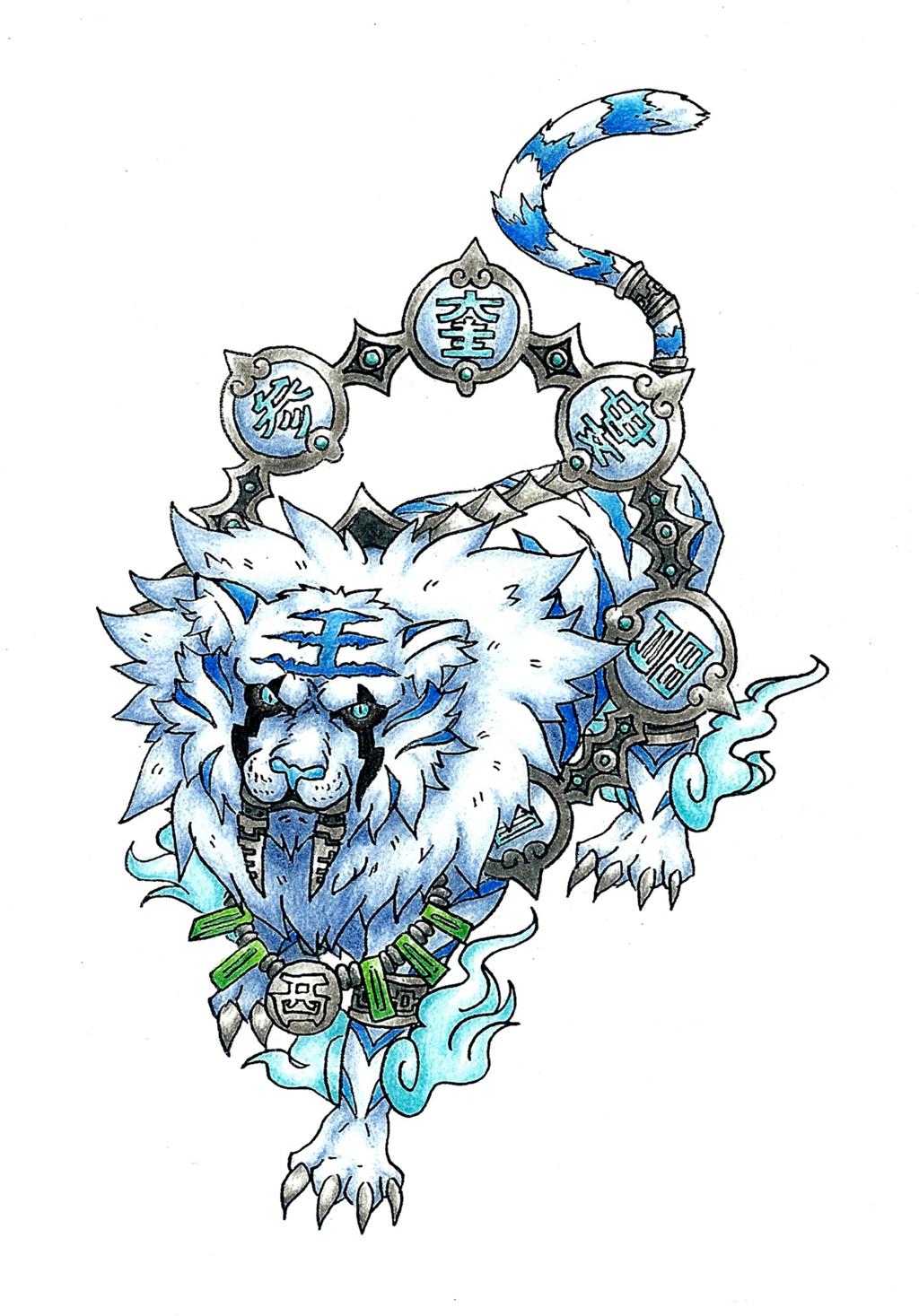 Byakko White Tiger Of The West By AtmaFlare On DeviantArt