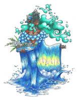 Iemanja, Queen of the seas by AtmaFlare