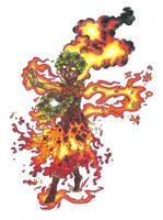 Pele, Hawaiian goddess of volcanoes by AtmaFlare