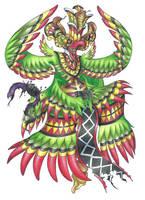 Gurulu Raksha, Dancing Demon Bird by AtmaFlare