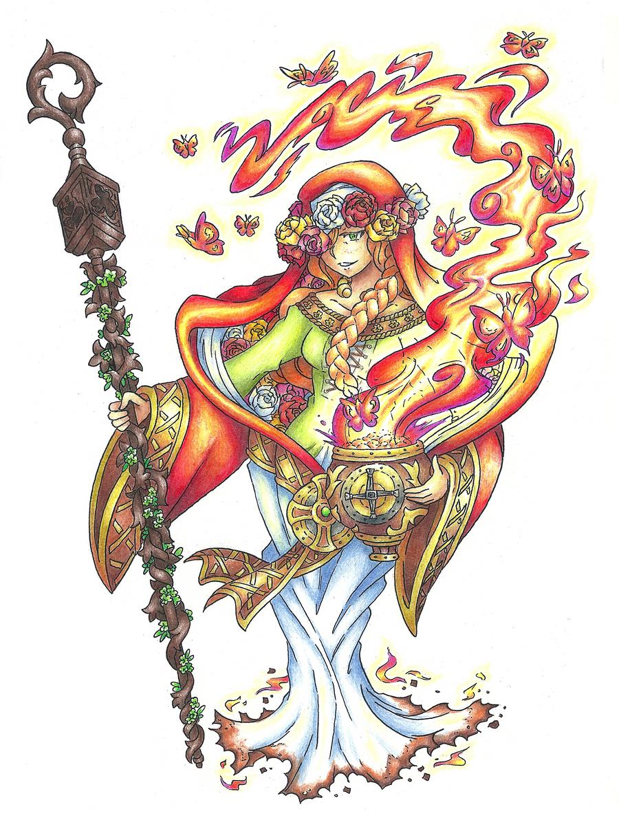 Brigid, Lofty Goddess of the Hearth by AtmaFlare