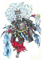 Susanoo, Japanese god of the raging storms by AtmaFlare
