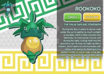 Rookoko, the Palm Sapling Fakemon