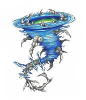 Charybdis, Raging whirlpool by AtmaFlare