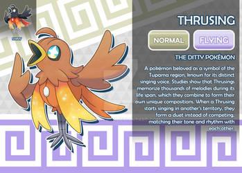 Thrusing, the Ditty Fakemon