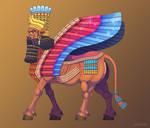 Lamassu, Ancient Protector by AtmaFlare