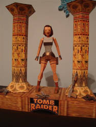 tomb raider 1 - papercraft by KarenGE
