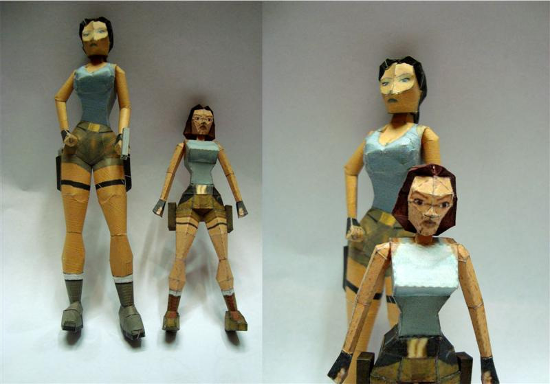 Papercraft attempts by KarenGE