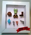 Tomb Raider mini shadow box