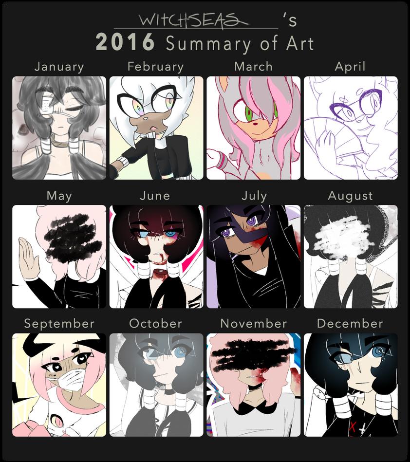 2016 summary of art by decovamp