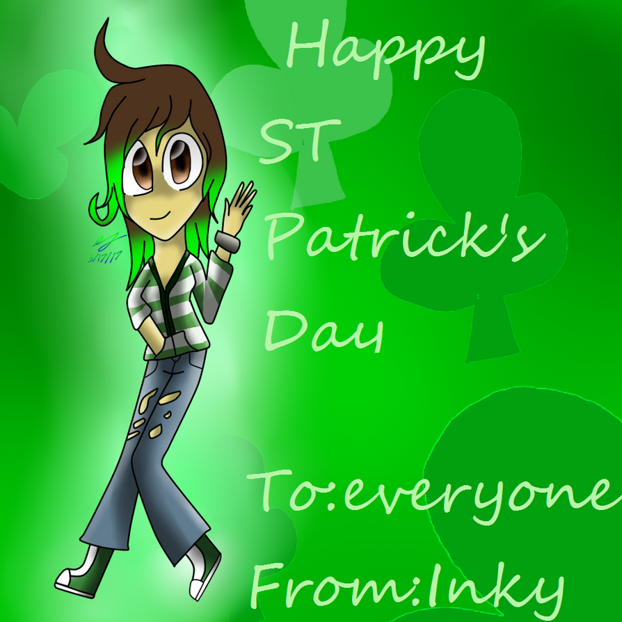happy ST patrick's day everyone by Inkdrop10