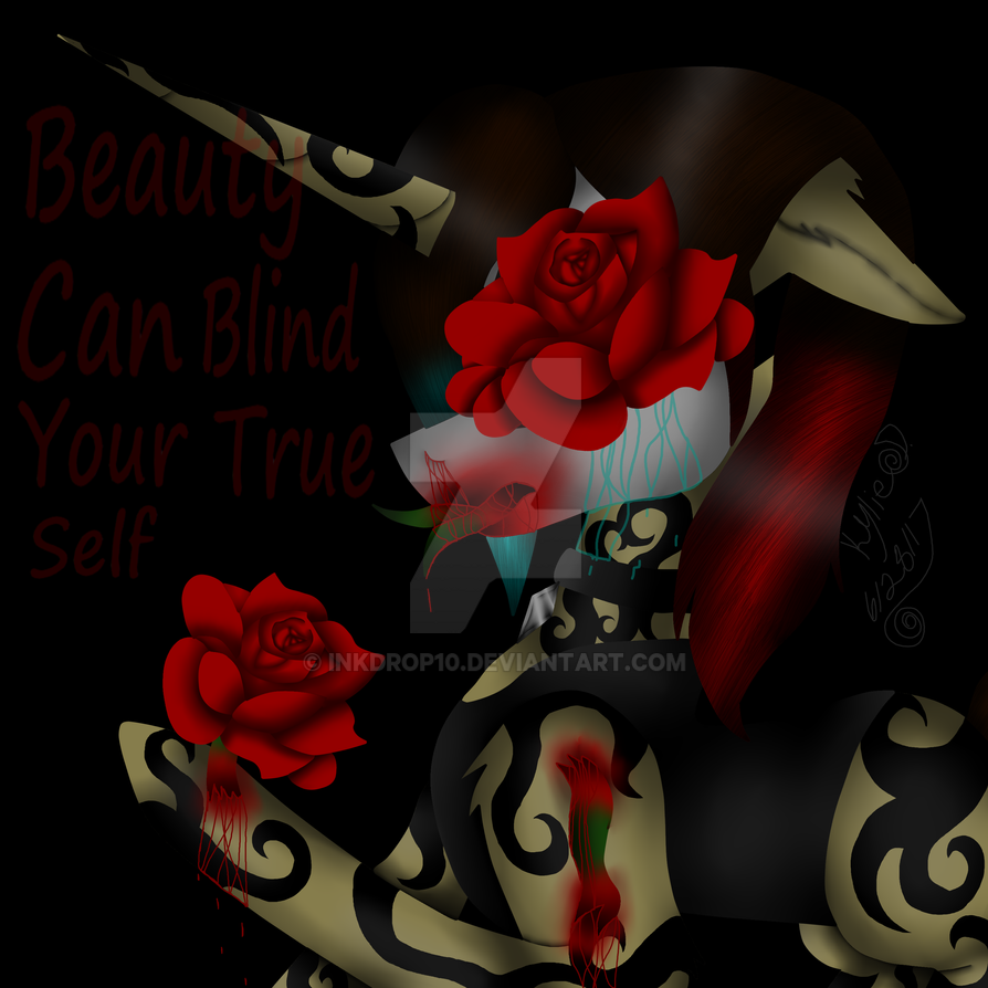 Beauty can blind your true self by Inkdrop10