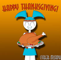 Happy Thanksgiving from Jenny! by Cyber-murph